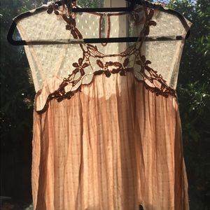 Forever 21 Tops - Forever 21 lace top in nude color size L